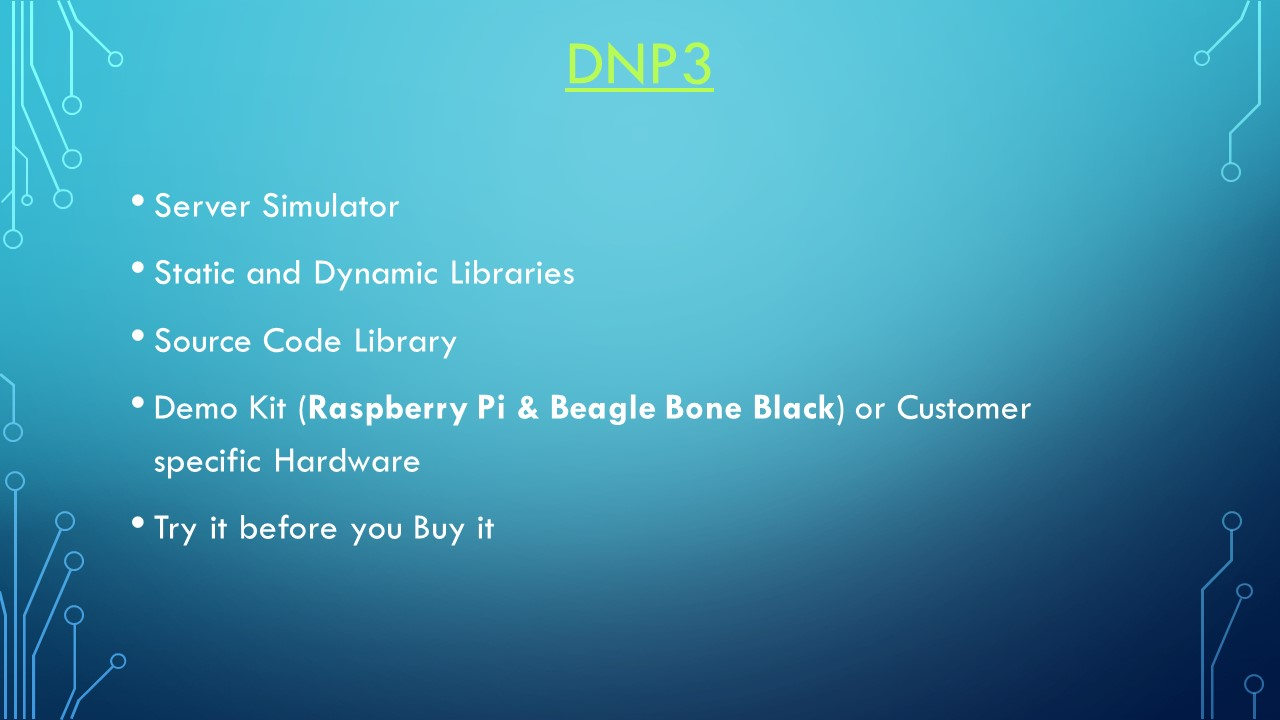 DNP3 Linux Software Development Kit